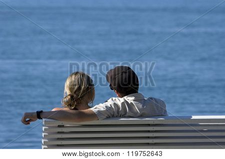 Bench with the sea wiew