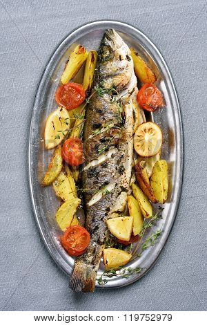Baked Fish, Top View
