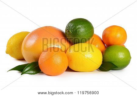Allsorts From A Citrus Isolated On White