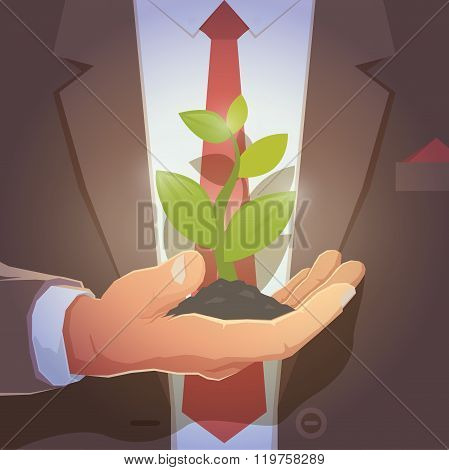 Hand of a businessman