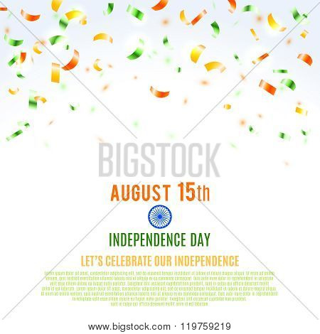 Indian Independence Day Background. Vector Illustration, Eps10.