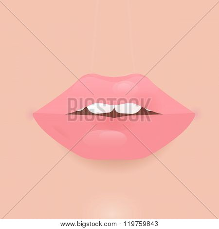 Glamour vector lip icon