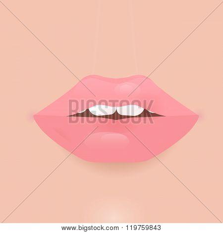 Glamour vector lip icon