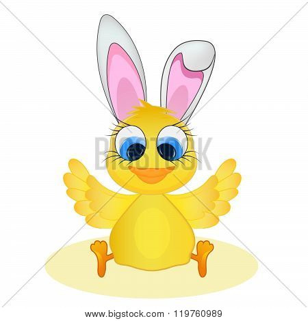 Easter chick and rabbit ears