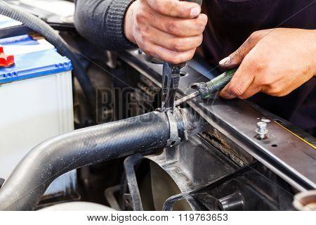 Repairing Car Radiator