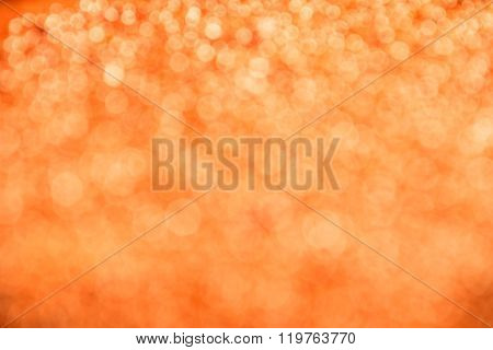 Orange Festive Glitter Light Abstract Blur Background