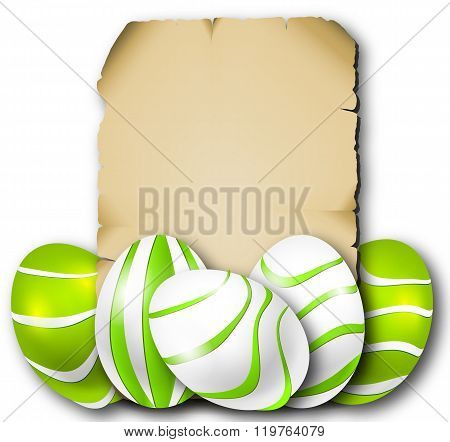 Parchment And Easter Eggs