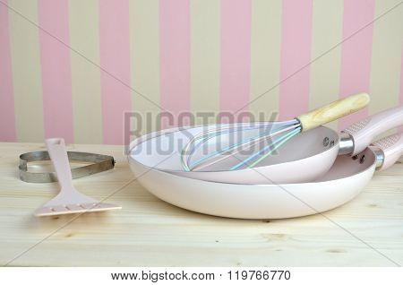 Pink Fraying Pans