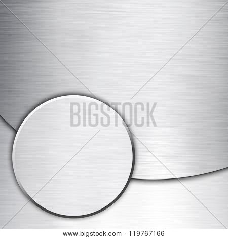 knob button on white metal background