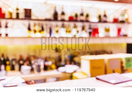Blurred Bar Counter