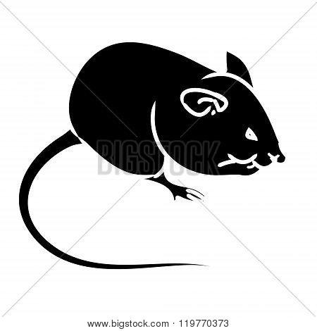 Rat, Mouse - Black Silhouette