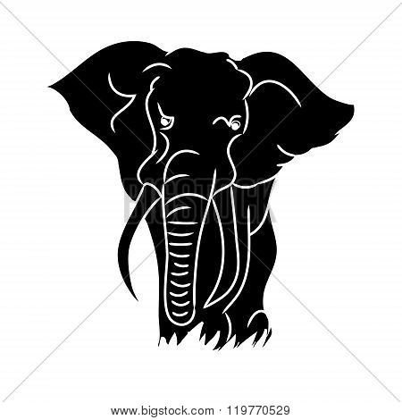 Elephant Black Silhouette