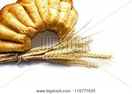 Part Of Big Bread And Linking Of Ears