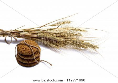 Linking Of Oatmeal Cookies And Grain Ears