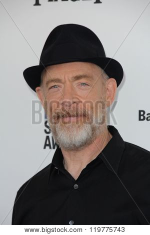 LOS ANGELES - FEB 27:  J.K. Simmons at the 2016 Film Independent Spirit Awards at the Santa Monica Beach on February 27, 2016 in Santa Monica, CA