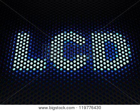 LCD (Liquid-crystal display) - flat panel display - computer generated image 3D render