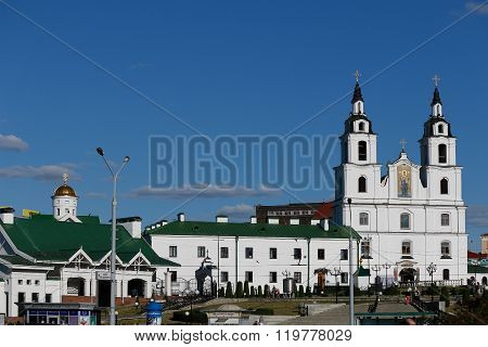 Minsk Belarus - June 27 2015: The Cathedral Of Holy Spirit In Minsk - The Main Orthodox Church Of Belarus