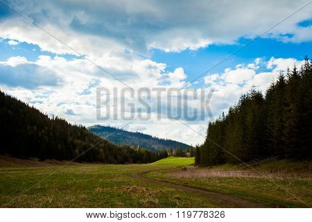 Beautiful Tatry mountains valley landscape