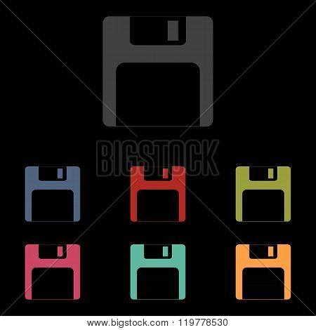 floppy disk  icon set