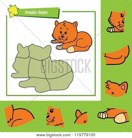 Puzzle game cat