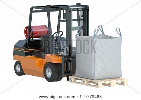 Forklift Truck With Bulk Bag
