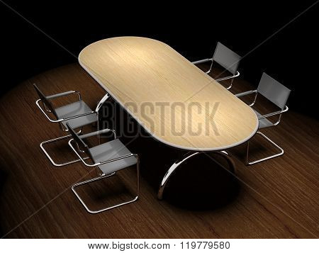 Table And Chairs For The Working Group Meeting.