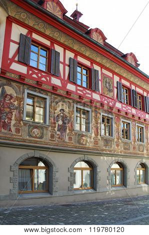 Magnificent Views Of The Downtown Buildings. Stein-am-rhein, Switzerland.