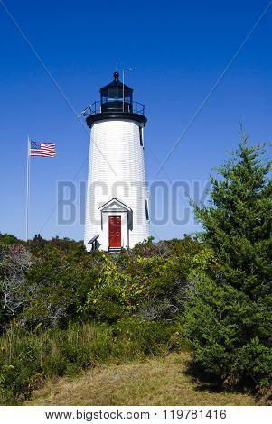 Cape Pogue Lighthouse On Martha's Vineyard