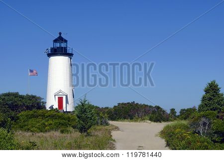 Cape Poge Lighthouse On Wildlife Reservation