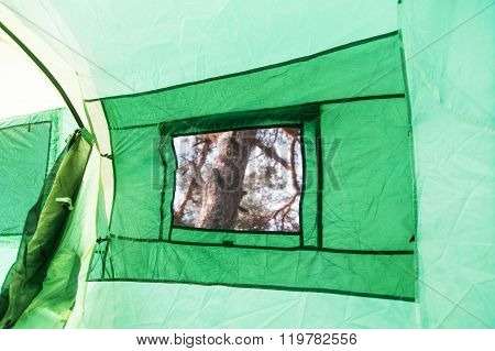 Tent Inside View - Window