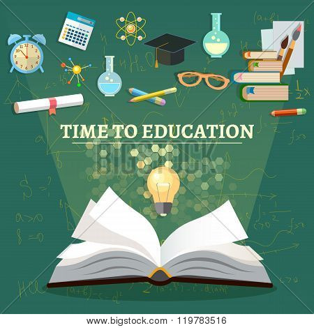 Time To Education Open Book School Subjects Effective Education Back To School