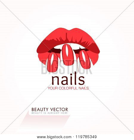 Red Nails and Lips business sign