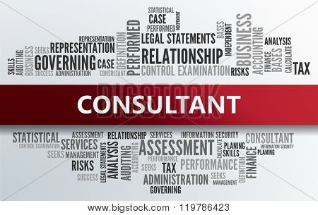 CONSULTANT | Business Abstract Concept