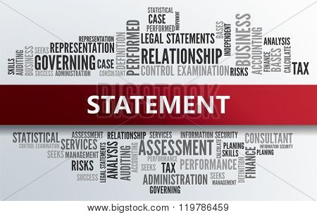 STATEMENT | Business Abstract Concept