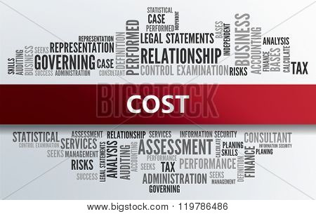 COST   Business Abstract Concept