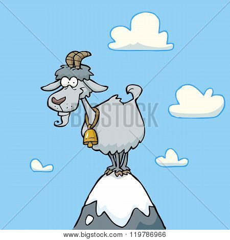 Cartoon Mountain Goat