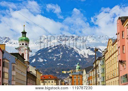 Old town in Innsbruck Austria - architecture background