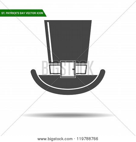 St Patricks Day hat flat icon vector.