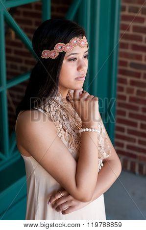 Beautiful Teen Girl With Headband