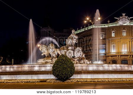 Cibeles fountain at Madrid Spain - architecture background