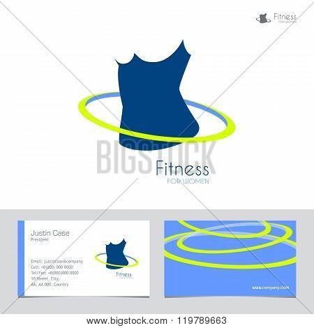 Fitness and weight loss vector illustration