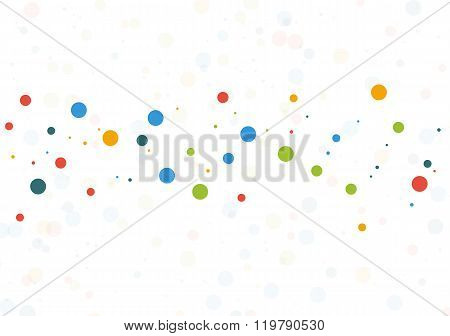 Template Background With Colorful Dots