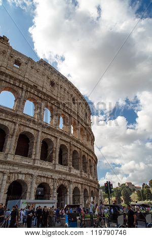 Ancient Amphitheatre Of Colosseum