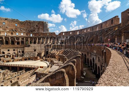 Detailed Inside Colosseum View