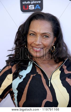 Kathleen Bradley-Redd arrives at the inaugural Stephen Bishop celebrity golf invitational benefiting R.A.K.E. on Feb. 15, 2016 at Calabasas Country Club in Calabasas, CA.
