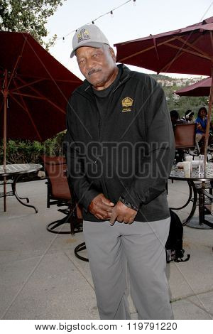 Jim Brown at the inaugural Stephen Bishop celebrity golf invitational benefiting R.A.K.E. on Feb. 15, 2016 at Calabasas Country Club in Calabasas, CA.