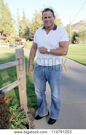 Keith Middlebrook arrives at the inaugural Stephen Bishop celebrity golf invitational benefiting R.A.K.E. on Feb. 15, 2016 at Calabasas Country Club in Calabasas, CA.