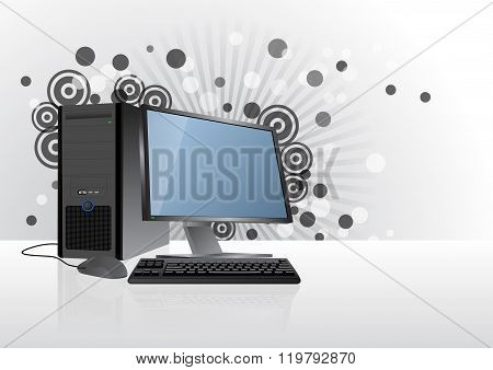 Desktop Computer Graphic