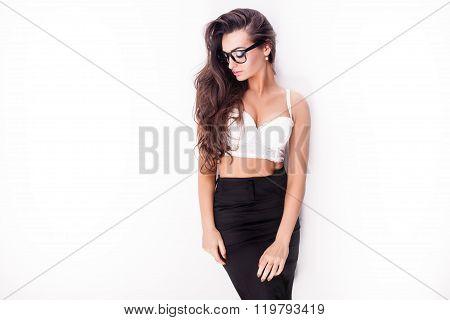 Sensual Brunette Posing.