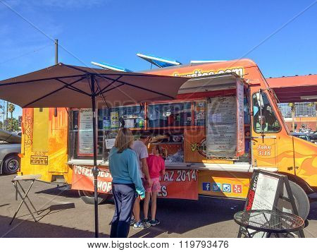 Getting Jamburritos From A Food Truck
